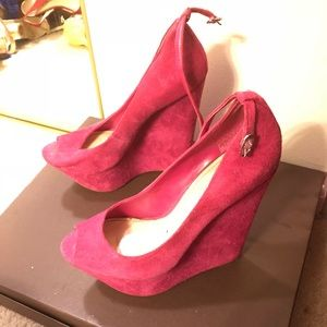 Some society fuchsia platform wedge